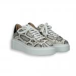 Rock python printed calf sneaker rubber sole