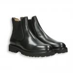 Black calf Chelsea boot rubber sole