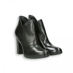 Black napa ankle boot platform heel 90 mm.