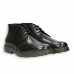 Black calf ankle boot rubber sole