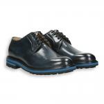 Blue calf derby micro rubber sole