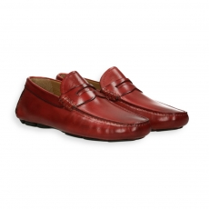 Red calf Carshoe Loafer