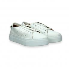 White napa leather sneaker rubber sole