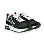 Sneaker Kiss black suede and nylon silver star
