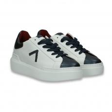 Grey toe and white calf Sneaker rubber sole