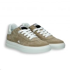 Sand suede Tennis sneaker rubber sole