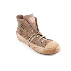 Sand suede rivet hi sneaker r.sole