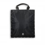 Vertical flat bag black sail fabric and studs