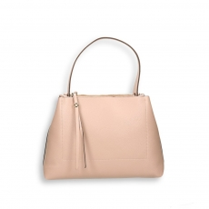 Powder elk calf double zip handbag size 35x13h25 cm
